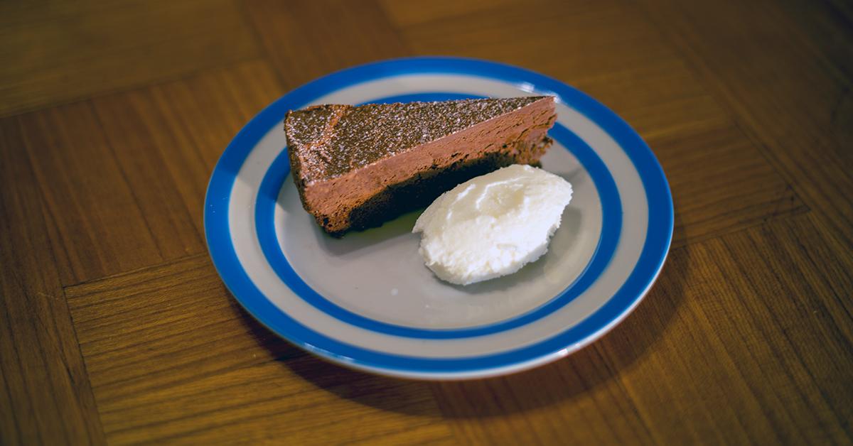 a chocolate ganache truffle cake